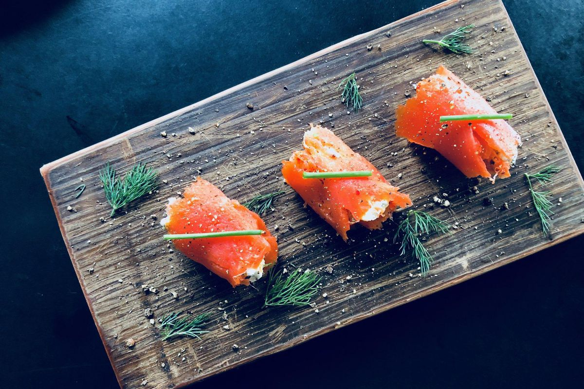 The salmon appetizer from Kicked Up Grub