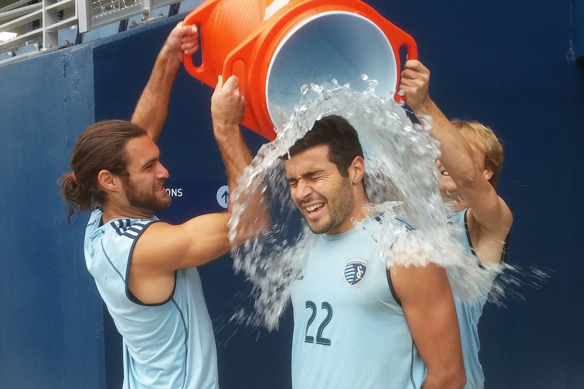 A photo of Soony doing the ice bucket challenge because we may never get another chance to use it