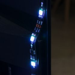 <em>Careful not to install the LED strips too close to the edge or they'll be visible from the front.</em>