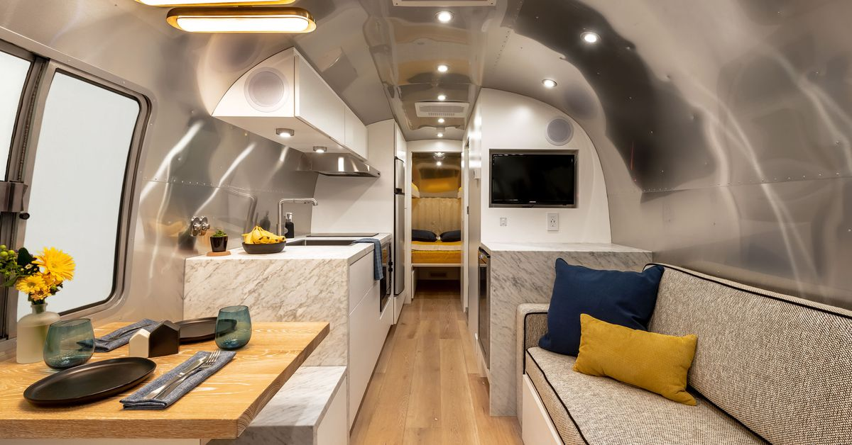 Renovated Airstream Is Like A Chic Apartment On Wheels