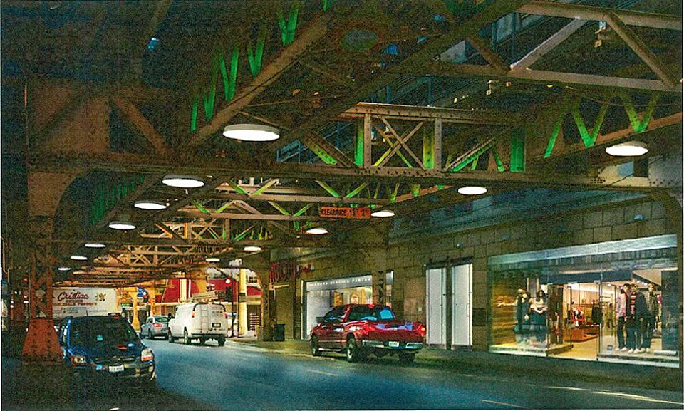 The city released this rendering of what special lighting treatments might be used at a renovated Cottage Grove station on the Green Line. | Provided