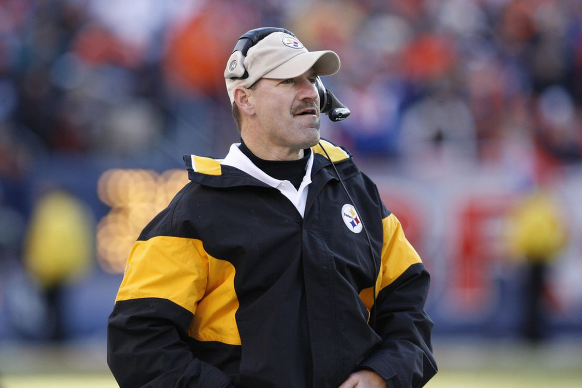 Cowher is used to wearing B&G, now we just have to change that to Burgundy and Gold from Black and Gold