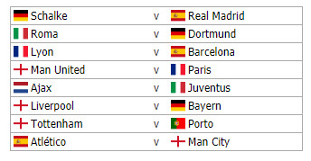 Simulate The Champions League Round Of 16 Draw Cartilage Free Captain