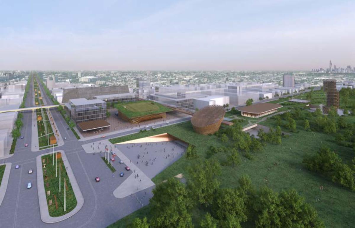 Adjaye Associates produced this plan for an Obama Presidential Center in Washington Park.   Adjaye Associates