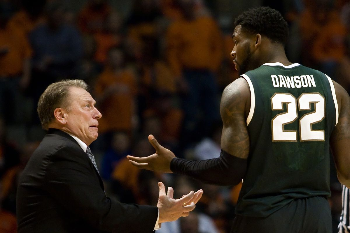 Tom Izzo and Branden Dawson will try to find some answers at Wisconsin Sunday