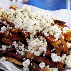 """Greek Fries from Souvlaki GR by <a href=""""http://www.flickr.com/photos/wwny/8267780857/in/pool-eater"""">wEnDaLicious</a>"""