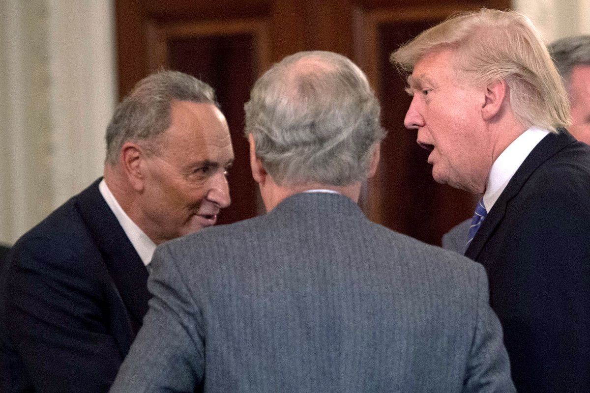 Image result for trump and democrats