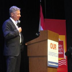 Libertarian presidential candidate Gary Johnson