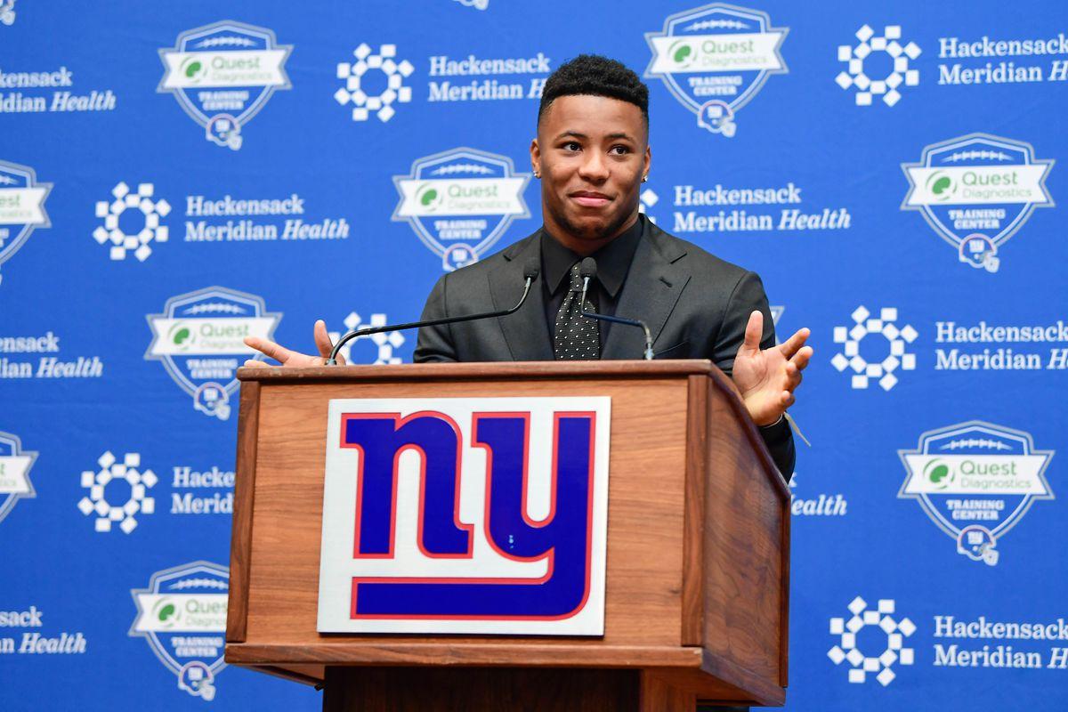 NFL: New York Giants-Saquon Barkley Press Conference