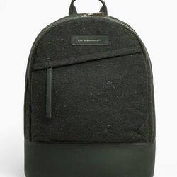 """<strong>WANT Les Essentiels de la Vie</strong> Kastrup Backpack in Spruce Fire/Moss, <a href=""""https://www.facebook.com/pages/Maison-Kitsune-New-York/272380076190515"""">$675</a> at Masion Kitsune NYC"""