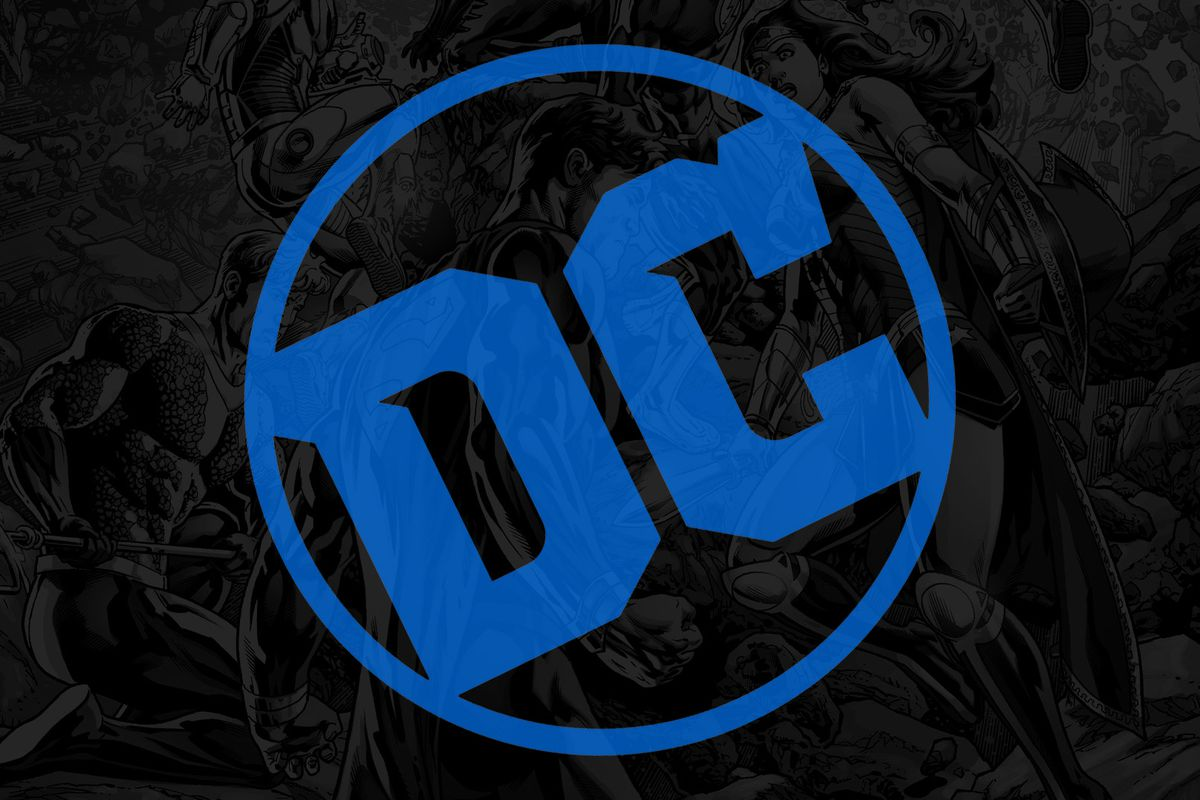 An image of the DC logo on top of the cover to Justice League #4