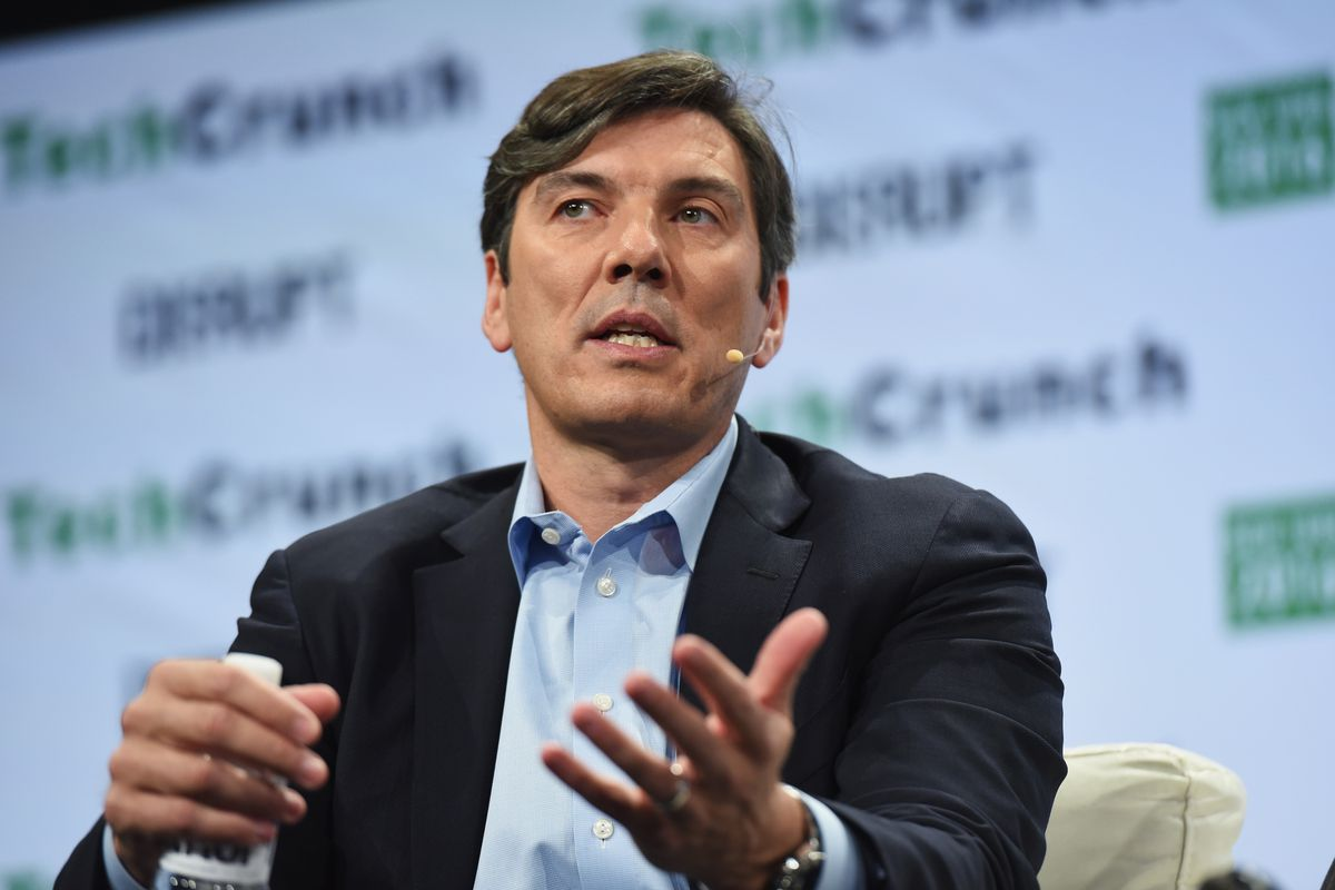 AOL CEO Tim Armstrong onstage at TechCrunch Disrupt NY 2016