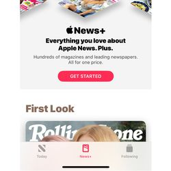 The News + section at the bottom of the iPhone app