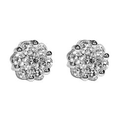 """Diamond Stud Cluster Earrings ($295) from <a href=""""https://www.safianrudolph.com"""">Safian & Rudolph</a> on Jewelers Row."""