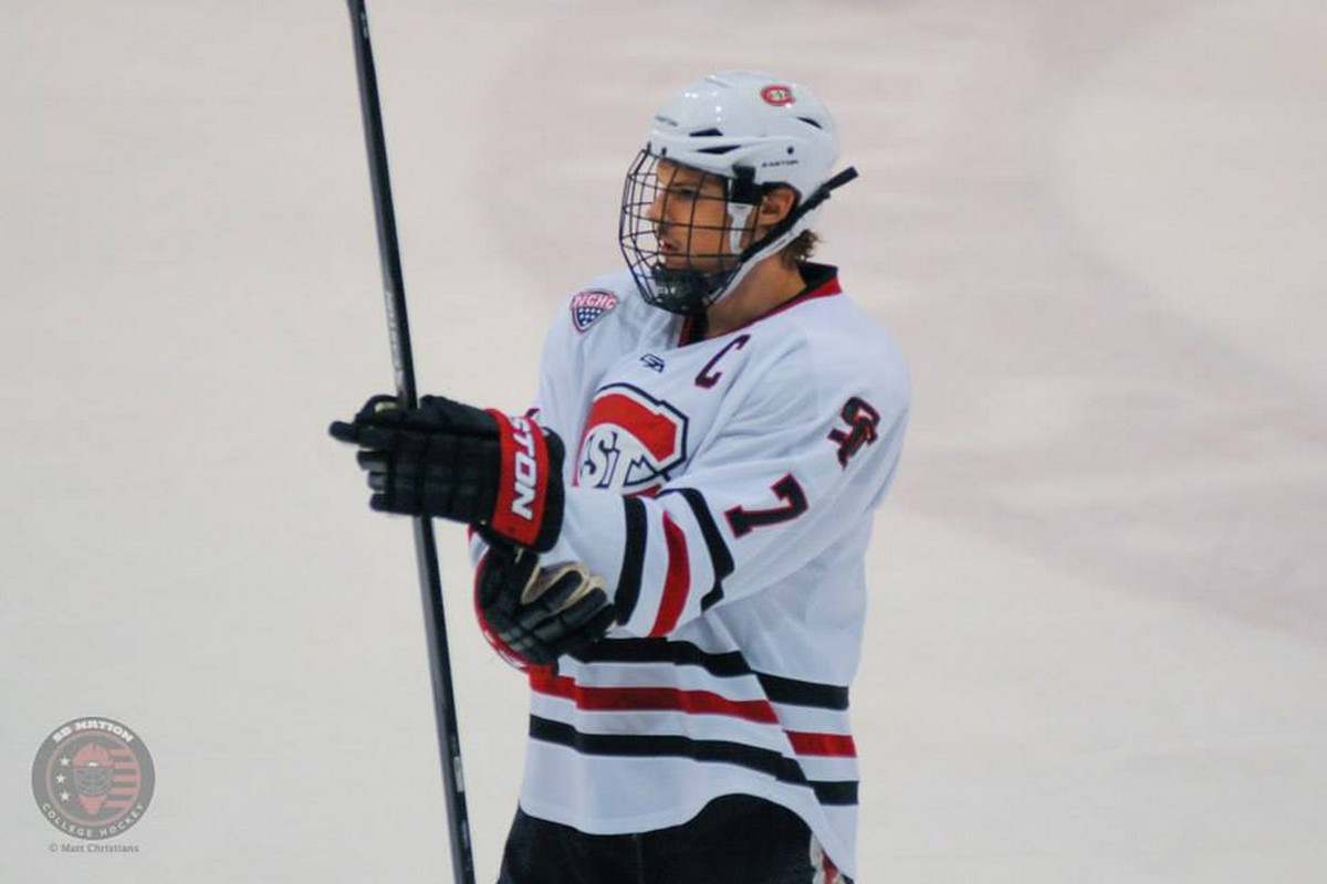 St. Cloud State co-captain Kevin Gravel is one of 4 seniors on this year's team
