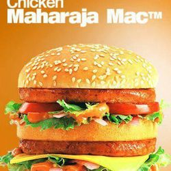 """This undated image provided by McDonald""""™s Corp. shows an item available in vegetarian-only restaurants in India. The company already offers menu items that cater to local tastes, such as the Maharaja Mac, which is a Big Mac except with chicken patties instead of beef."""
