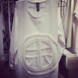 All white everything by Astrid Andersen.