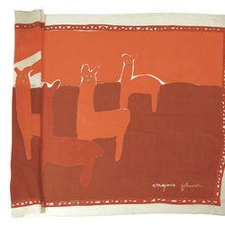 "<b>Virginia Johnson</b> Lightweight Merino Wool Shall in Llama Red, <a href=""http://www.virginiajohnson.com/products/lightweight-merino-wool-shawl-llamas-red"">$195</a> at Calypso"
