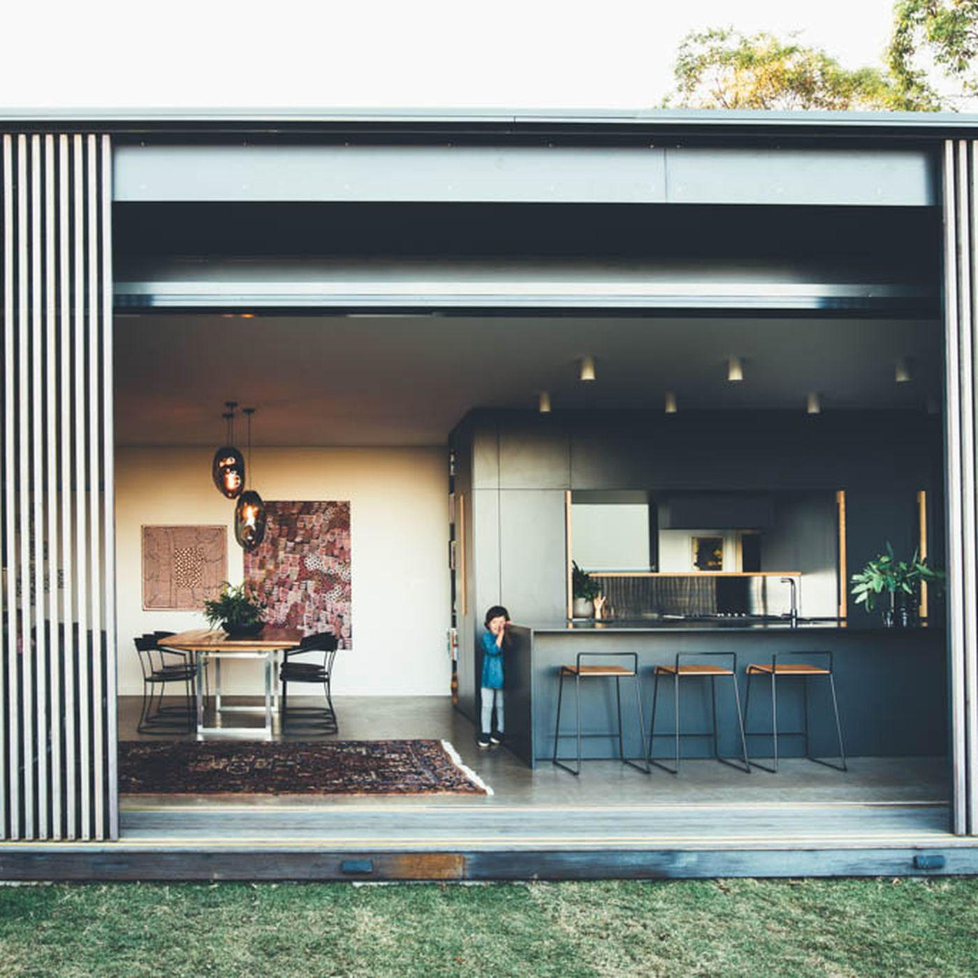 Solar Powered Home Comes Wrapped In Sliding Screens Curbed