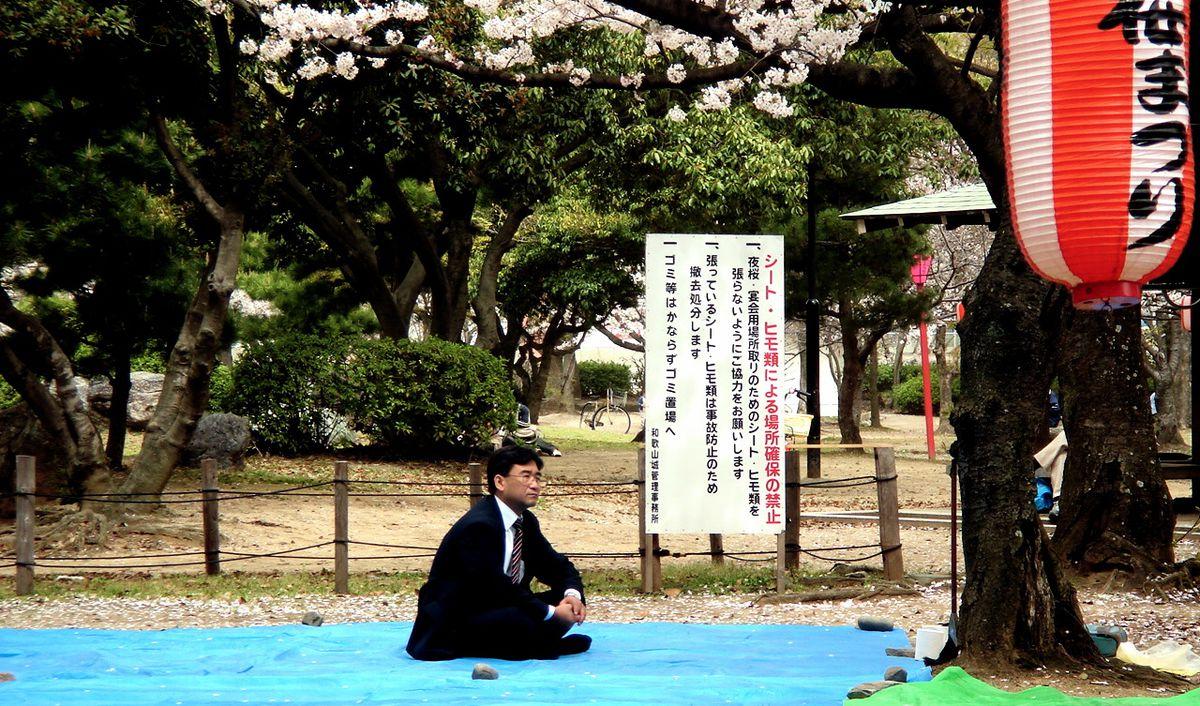 japan businessman reserved seat