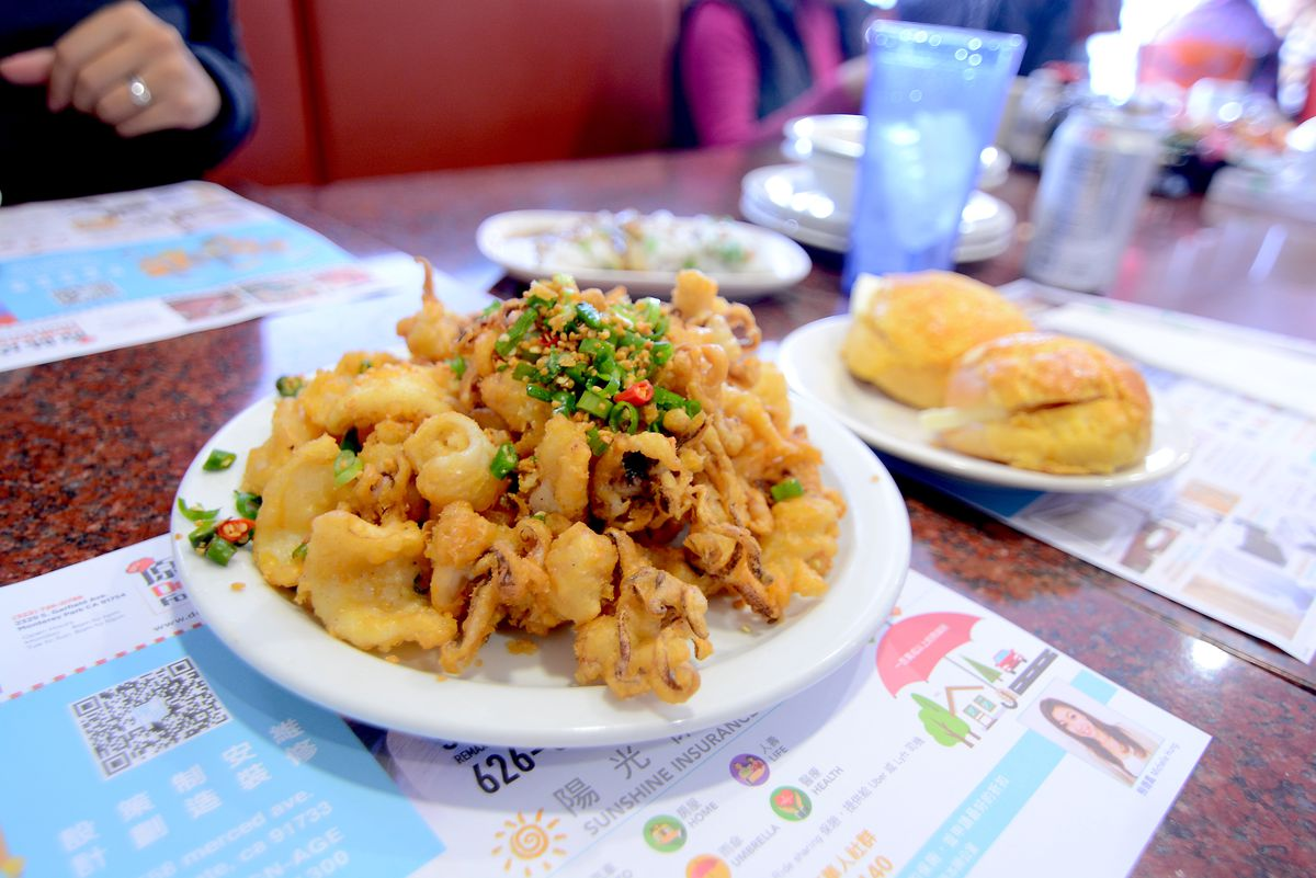 Fried squid with spicy salt from Delicious Food Corner in Rosemead.