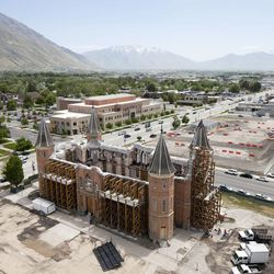 Ten months after the December 2010 Provo Tabernacle fire, LDS Church president Thomas S. Monson announced the new Provo City Center Temple.