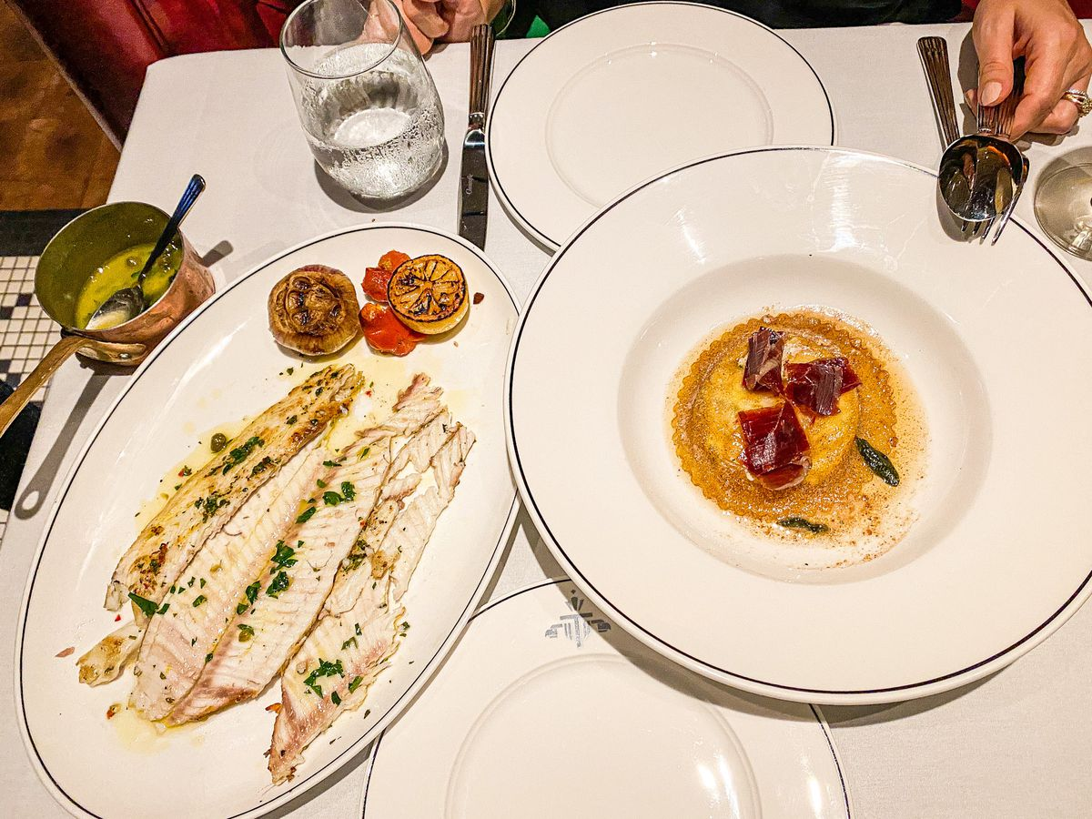 Dover sole at Tatel in Beverly Hills.