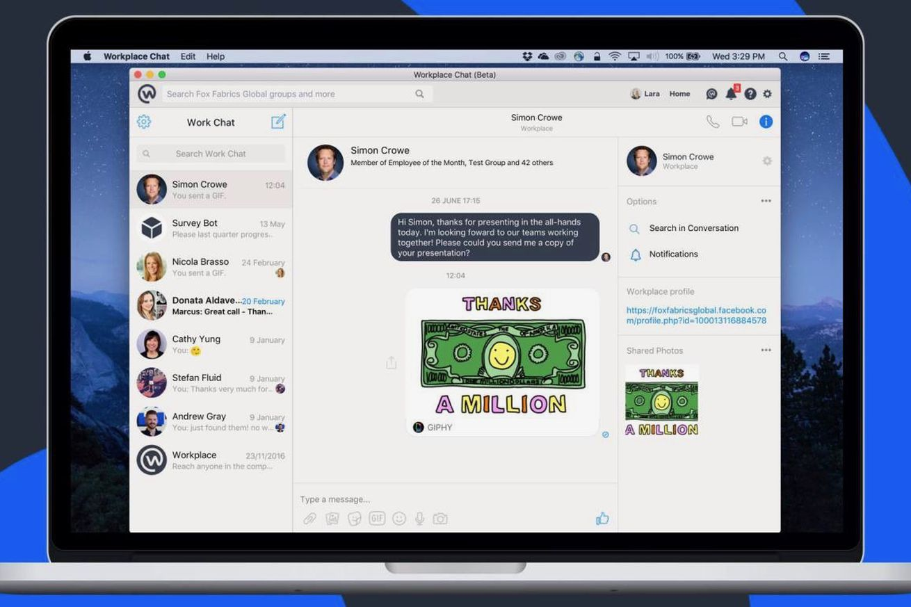 Facebook Quietly Releases Desktop Chat Apps For The Workplace