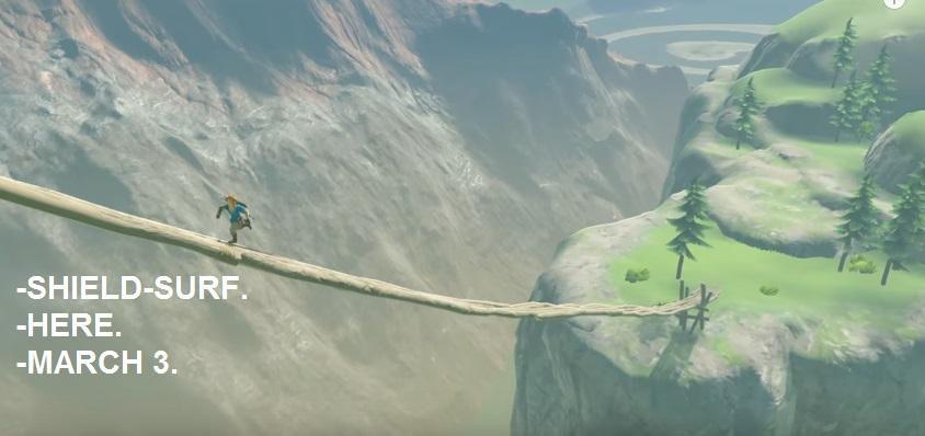 Zelda: Breath of the Wild shield-surf challenge