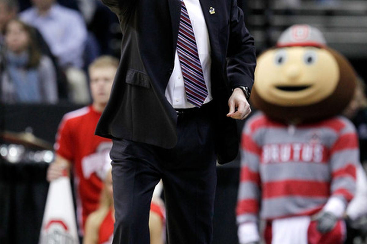 Thad Matta (and Brutus) request you to be the recipient of a double digit lesson.