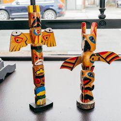 Mid-1900's Miniature Souvenir Totem Poles, $45 Each