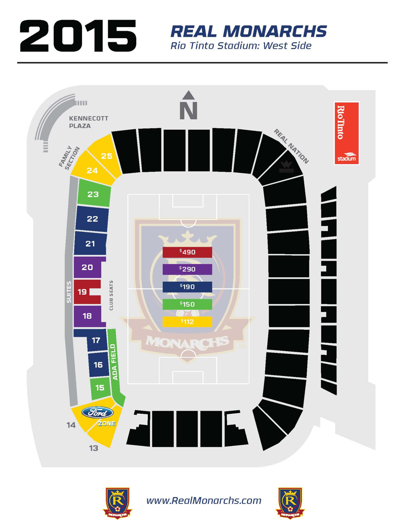 Real Monarchs STH pricing