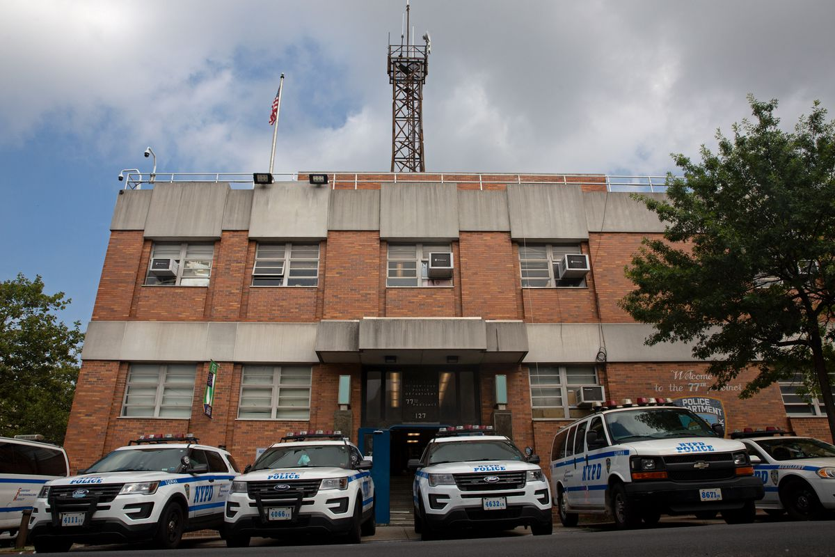 The NYPD's 77th Precinct in Crown Heights, Brooklyn, July 31, 2020.