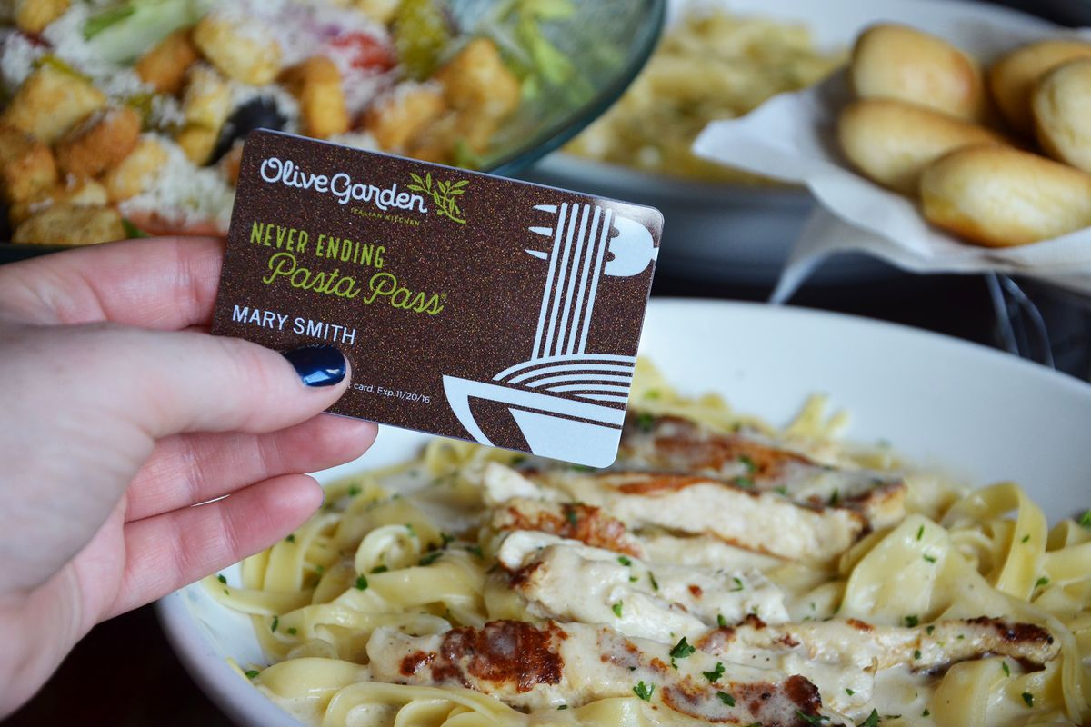 21 000 Olive Garden Pasta Passes Sold Out In Less Than One Second Eater