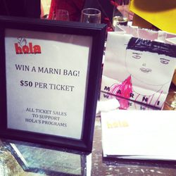 All ticket proceeds from this Marni bag raffle were donated to HOLA