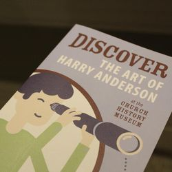 The Harry Anderson exhibit is currently open in the Church History Museum and will remain open through April.