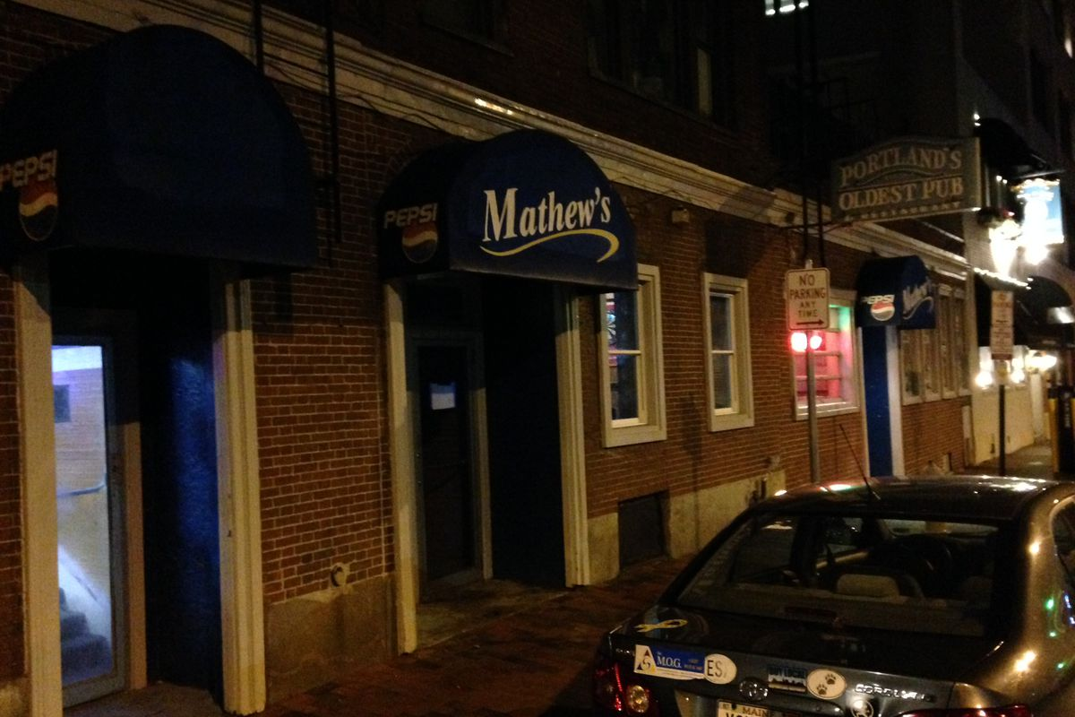 "Mathew's, ""Portland's Oldest Pub."""