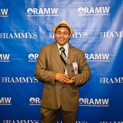 Employee of the year José Alex Medrano of B. Smith's