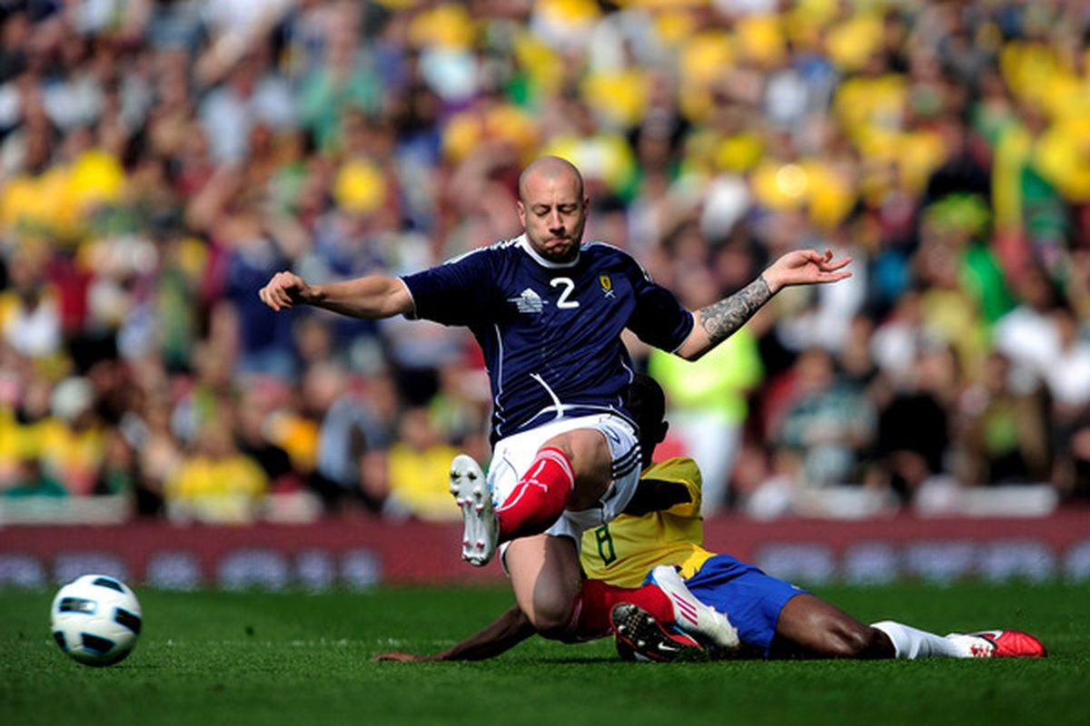 Why does everyone playing for Scotland always look as though they're practicing ballet?
