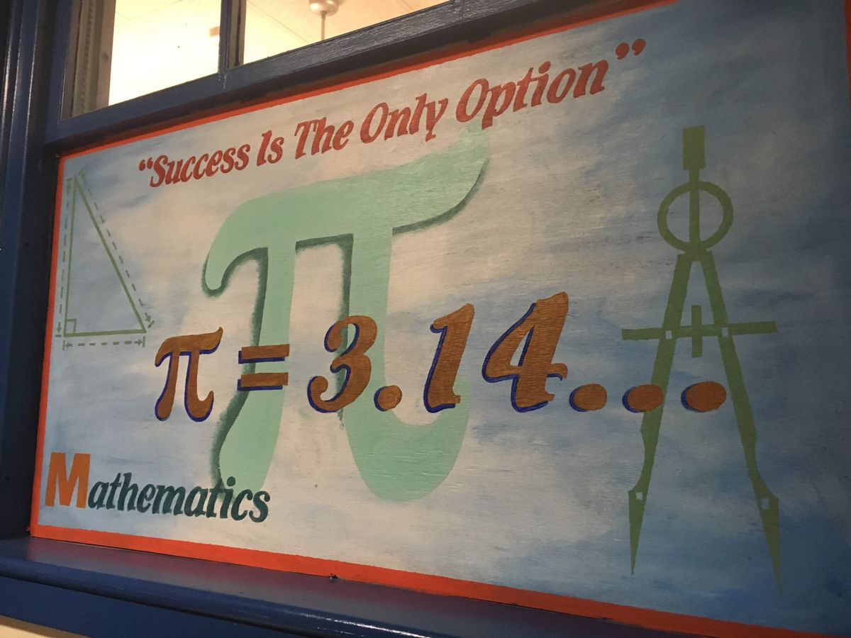 A poster inside M.E.T.S.'s Jersey City campus.