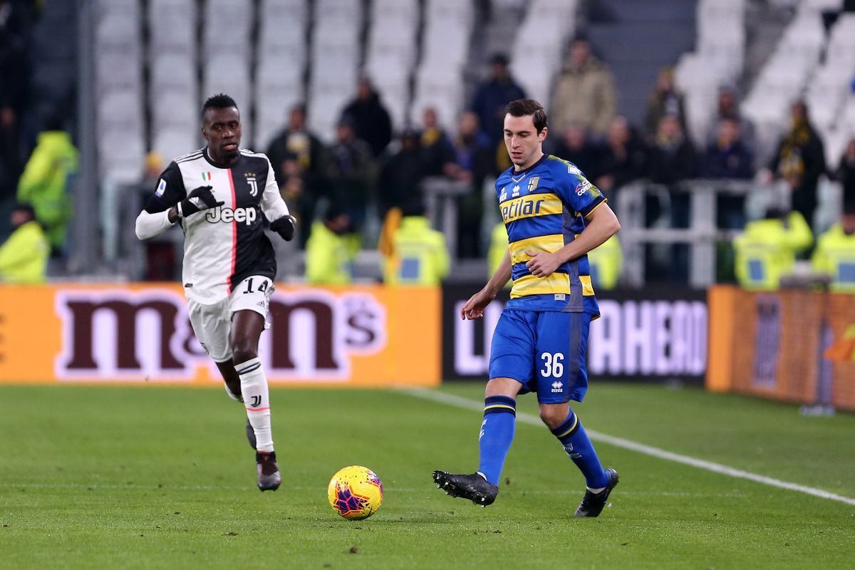 Matteo Darmian of Parma Calcio in action during the Serie A...