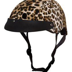 "Always wear a helmet. <a href=""http://www.sawakofuruno.com/collections/leatherette/products/sawako-furuno-leopard-helmet"">Sawako Furuno Leopard Helmet</a>, £84"