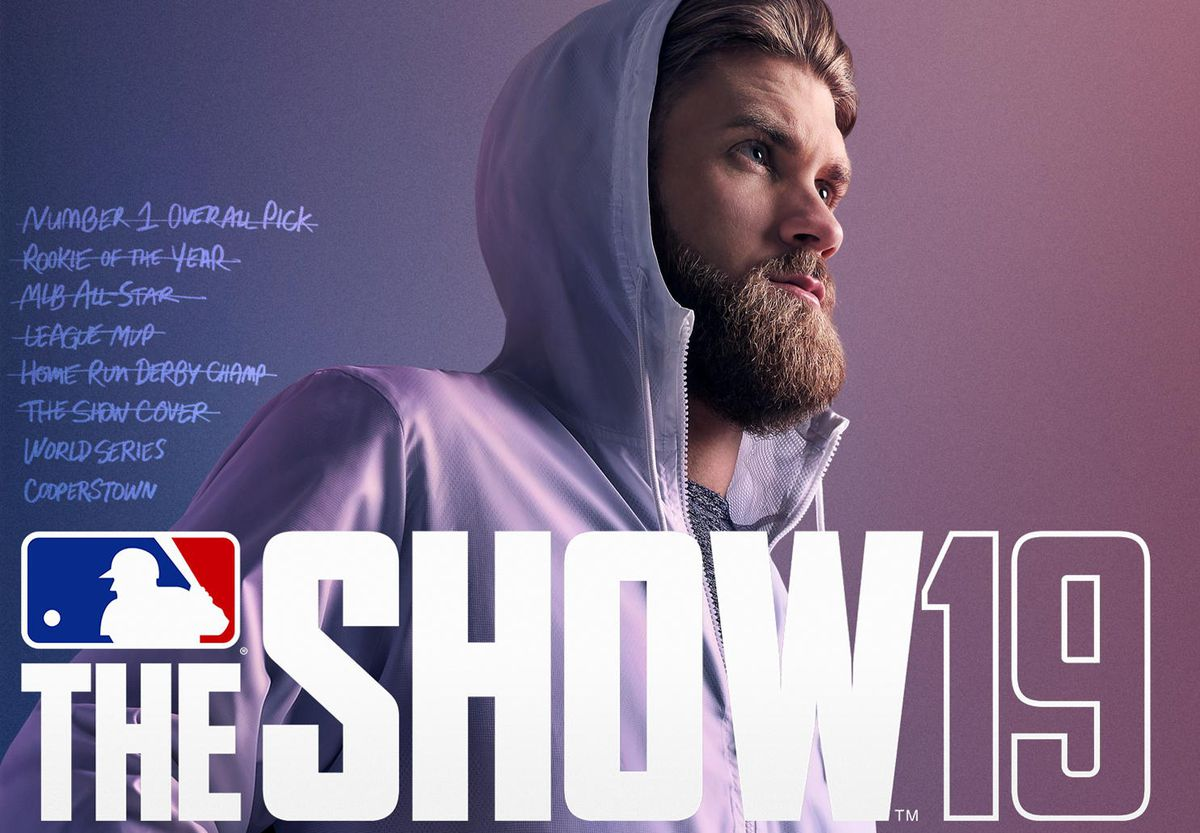 bryce harper on the cover of mlb the show 19