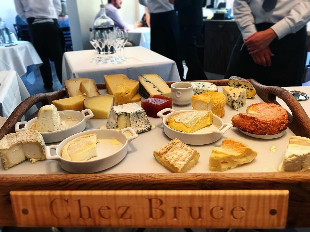 Cheeseboard at Chez Bruce, a classic London restaurant