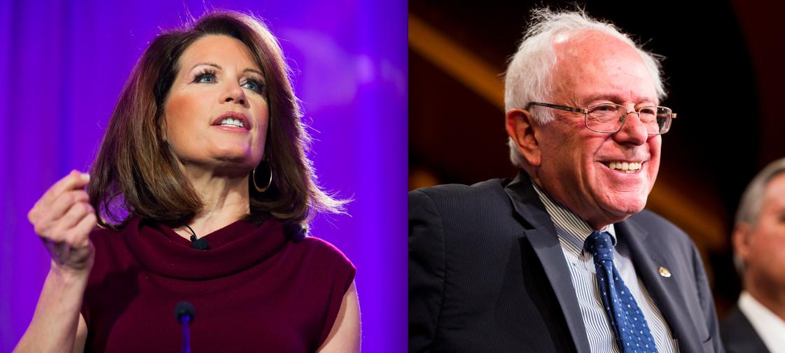 Michele Bachmann and Bernie Sanders