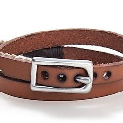 """<strong>Caputo & Co.</strong> Double Wrap Leather & Waxed Cord Bracelet in Khaki, <a href=""""http://www.scoopnyc.com/double-wrap-leather-waxed-cord-bracelet.html"""">$75</a> at Scoop NYC"""