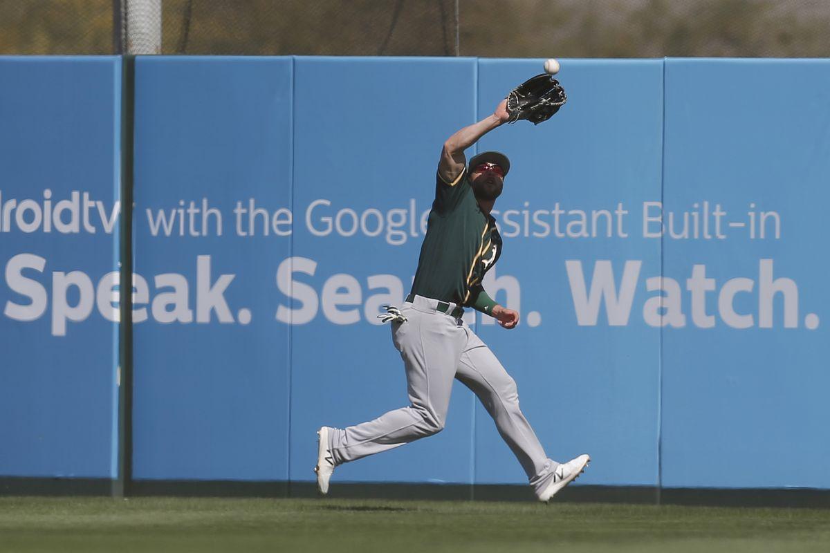 MLB: Spring Training-Oakland Athletics at Los Angeles Angels