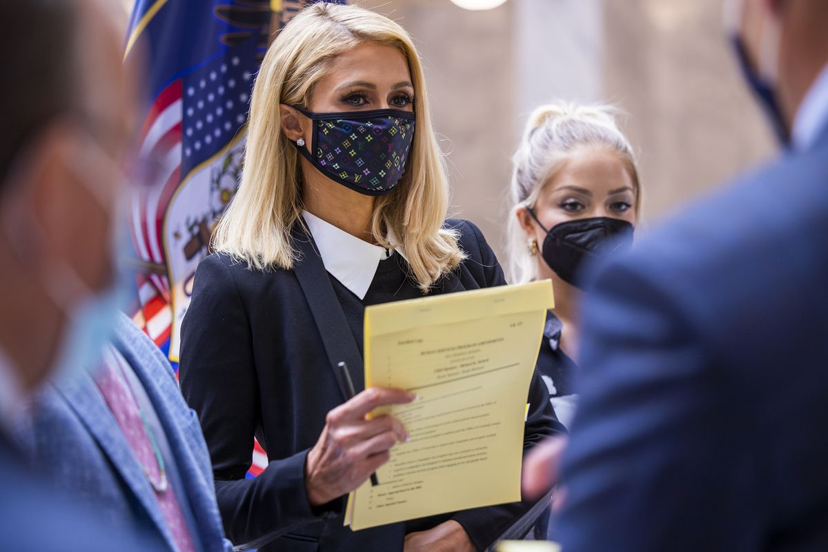 Paris Hilton in support of changes to Utah's troubled youth industry.