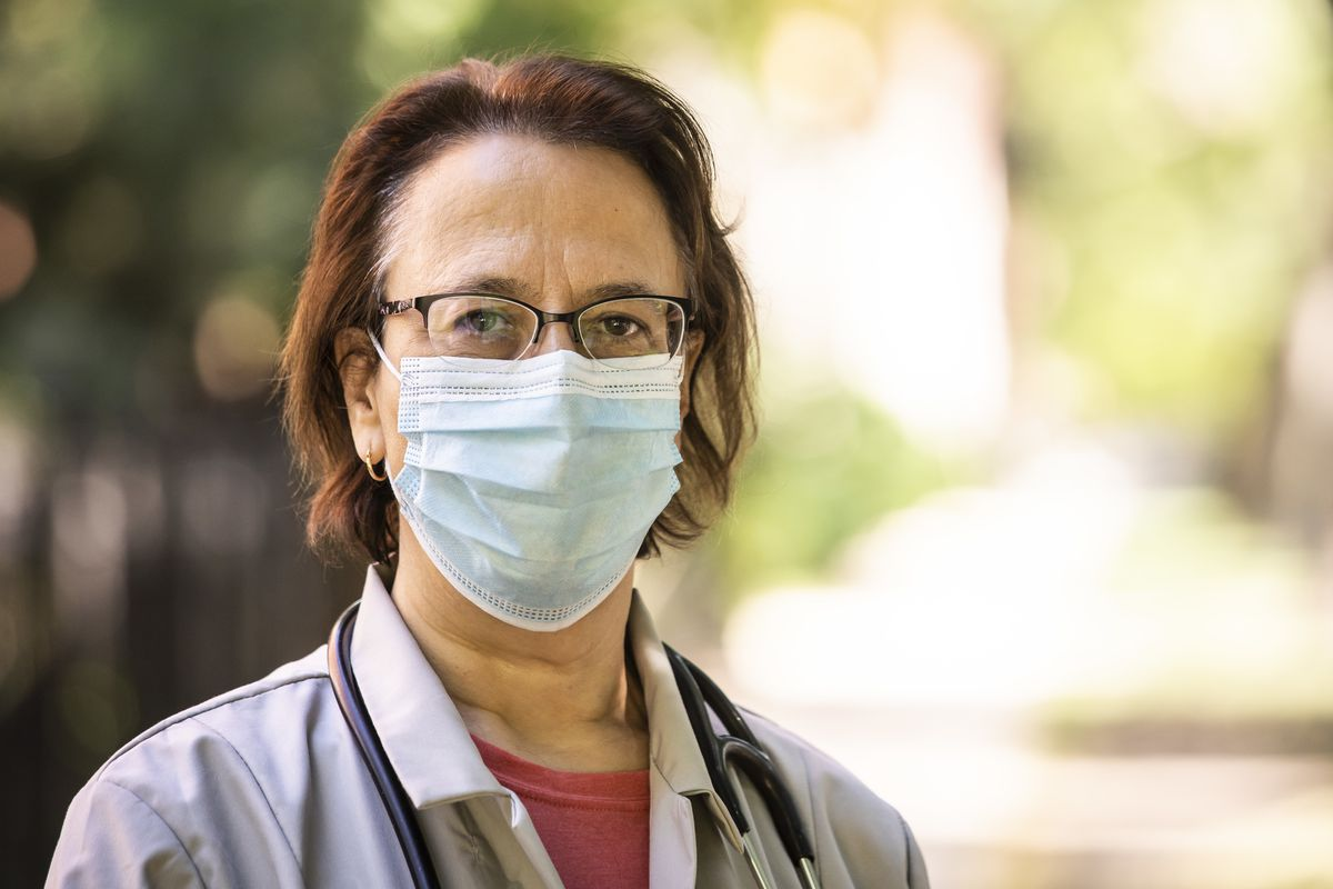 Dr. Rachel Rubin, senior medical officer and co-lead of the Cook County Department of Public Health, poses for a portrait in July.