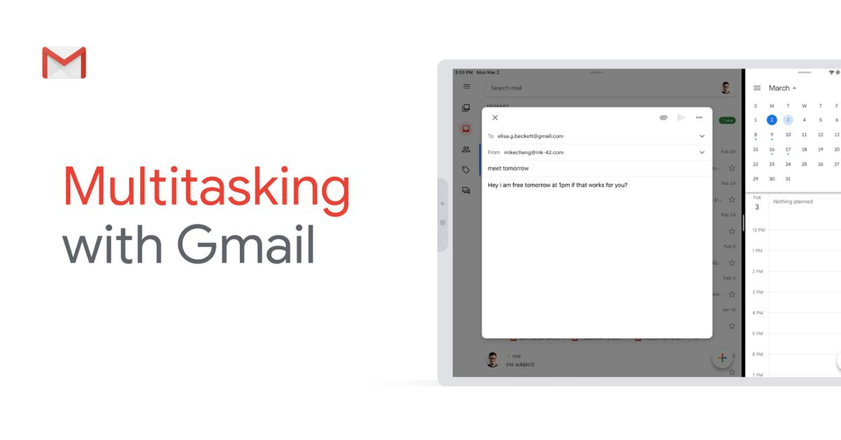 Gmail for iPad now supports split-view multitasking thumbnail